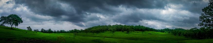 Panoramic view from Degma Hills near Nagpur, 2018