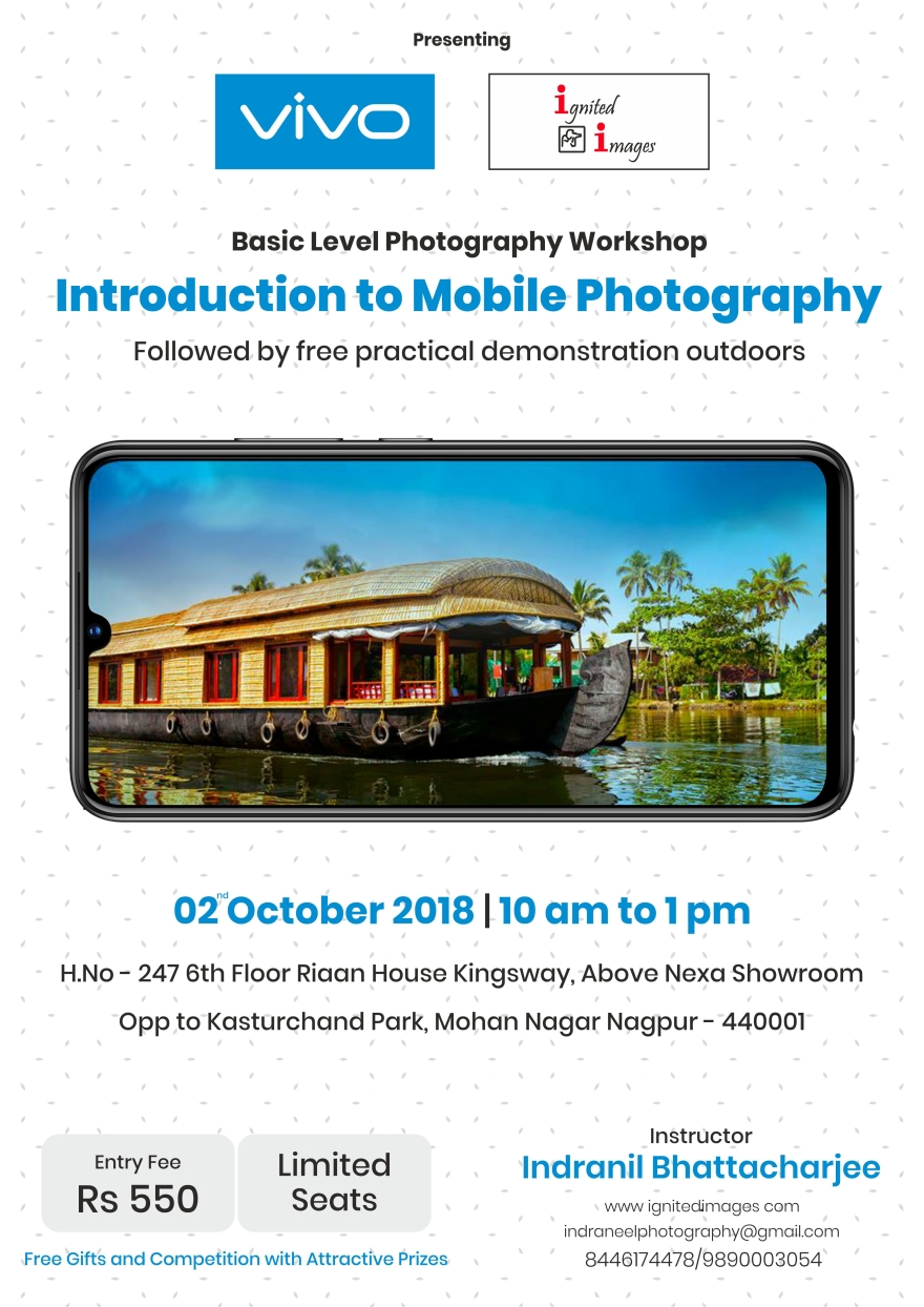 Mobile Photography workshop Poster from Vivo
